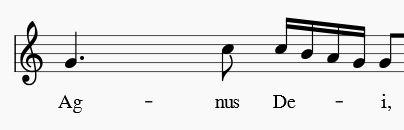 Agnus Dei, Orgelsolomesse v. W.  A. Mozart