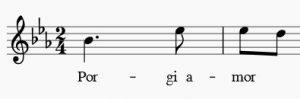 Arie Porgi amor von W. A. Mozart