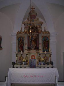 Altar der Kapelle Suttenbrunn